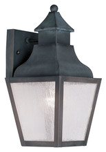 Livex Lighting 2450-61 - 1 Light Charcoal Outdoor Wall Lantern