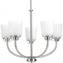 Progress P400009-009 - 5-Lt. Brushed Nickel Chandelier