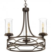 Progress P400018-020 - 3-Lt. Antique Bronze Chandelier