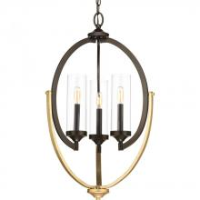 Progress P400024-020 - 3-Lt. Antique Bronze Chandelier