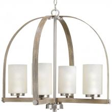 Progress P400027-009 - 4-Lt. Brushed Nickel Chandelier