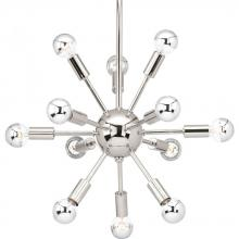 Progress P400040-104 - 12-Lt. Polished Nickel Chandelier