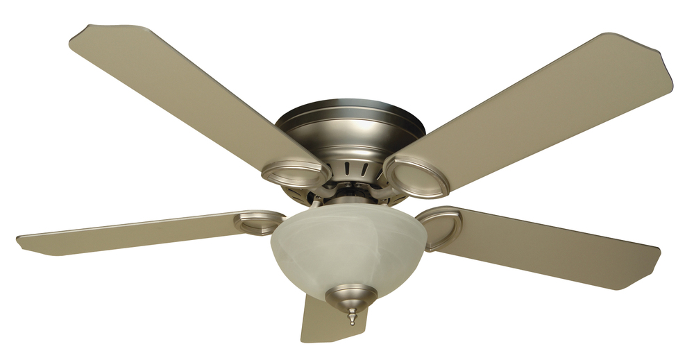 "Pro Universal Hugger 52"" Ceiling Fan Kit with Light Kit in Brushed Satin Nickel"