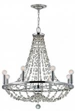 Crystorama 1548-CH-MWP - Crystorama Channing 8 Light Chrome Chandelier