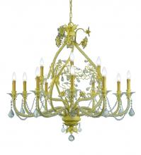 Crystorama 5139-CM-CL-MWP - Crystorama Paris Market 12 Light Champagne Chandelier