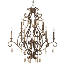Crystorama 7529-DT - Crystorama Shelby 9 Light Distressed Twilight Chandelier