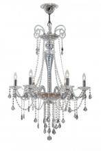 Crystorama 9838-CH-IB - Crystorama Simone 6 Light Blue Crystal Chandelier