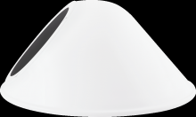 "RAB Lighting GSAC11W - ANGLED CONE SHADE 11"" FOR GNLED GOOSENECK WHITE"