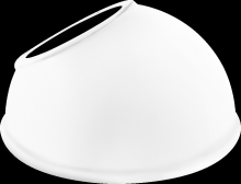 "RAB Lighting GSAD11W - ANGLED DOME SHADE 11"" FOR GNLED GOOSENECK WHITE"
