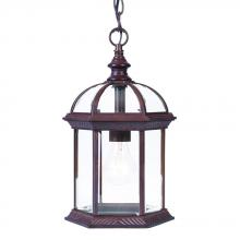 Acclaim Lighting 5276BW - Dover Collection Hanging Lantern 1-Light Outdoor Burled Walnut Light Fixture