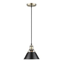 Golden 3306-S AB-BLK - Mini Pendant - 7""