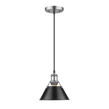 Golden 3306-S PW-BLK - Mini Pendant - 7""