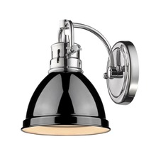 Golden 3602-BA1 CH-BK - 1 Light Bath Vanity