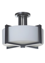 Jeremiah 39753-OB - Albany 3 Light Semi Flush in Oiled Bronze