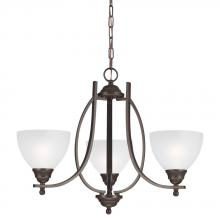 Sea Gull 3131403-715 - Vitelli Three Light Chandelier in Autumn Bronze with Satin Etched Glass