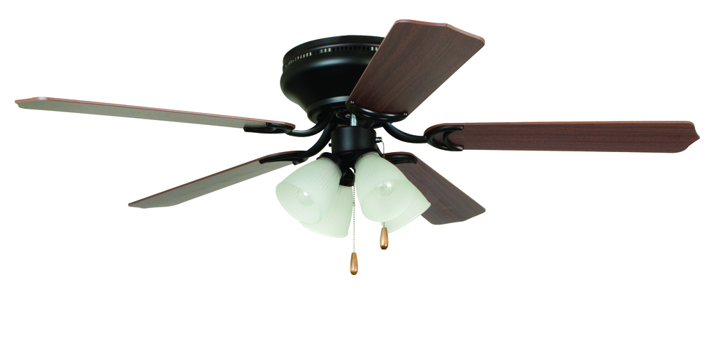"Brilliante with 4-light Kit 52"" Ceiling Fan with Blades and Light in Oil-Rubbed Bronze"