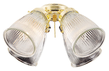 Ellington Fan ECK756ABZ - 4 Light Fan Light Kit in Aged Bronze with Clear Ribbed Cone Glass