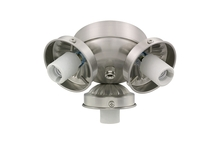 Monte Carlo H3BS-L - 3 Light Fitter - Brushed Steel