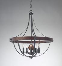 Feiss F2794/5AF/CBA - 5 - Light Single Tier Chandelier