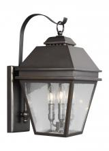 Feiss OL13501ANBZ - 3 - Light Outdoor Wall Lantern