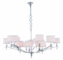 Elegant 1527G52PN - 1527 Segovia Collection Chandelier D:52in H:26in Lt:15 Polished Nickel Finish