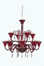 Elegant 8812D37RD/EC - 8812 Symphony Collection Hanging Fixture D37in H37in Lt:12 Red Finish (Elegant Cut Crystal Clear)
