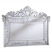 Elegant MR-2004C - Venetian 59 in. Transitional Mirror in Clear