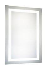 "Elegant MRE-6004 - LED Electric Mirror Rectangle W24""H40"" Dimmable 5000K"