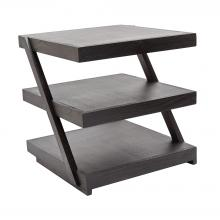 Dimond 784060 - Stacked Black Teak Side Table