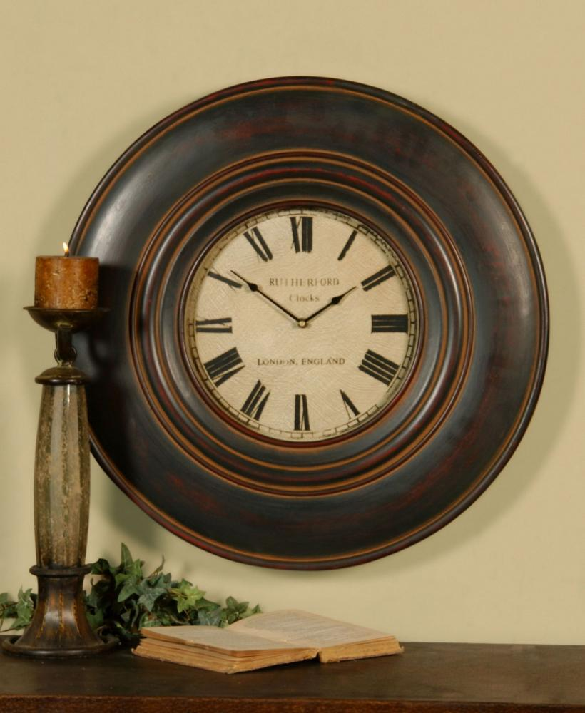 "Uttermost Adonis 24"" Wooden Wall Clock"