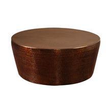 Uttermost 25037 - Uttermost Hania Hammered Rustic Bronze Coffee Table