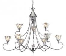 ELK Lighting 11067/6+3+1 - Modena 10-light Chandelier In Polished Chrome