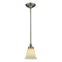 ELK Lighting 11501/1 - One Light Brushed Nickel Down Mini Pendant