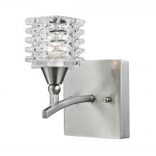 ELK Lighting 17130/1 - Matrix 1 Light Vanity In Satin Nickel And Clear