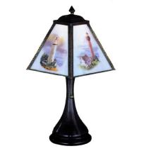 "Meyda Tiffany 26295 - 10""H Lithophane Lighthouse Accent Lamp"