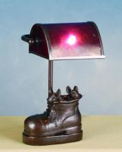 "Meyda Tiffany 82300 - 10""H Mica Banker Mice In Shoe Accent Lamp"
